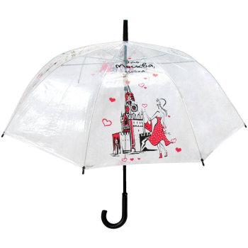 """Прозрачный зонт """"Это Москва, детка"""""""