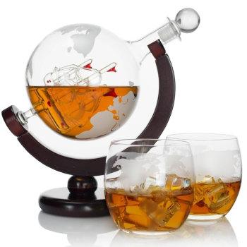"""Графин """"Глобус"""" с двумя бокалами"""