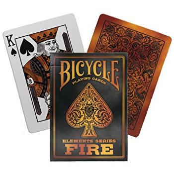 """Игральные карты """"Bicycle Fire"""" (USPCC, 54 карты)"""