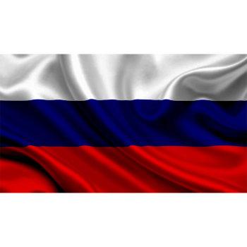 Кабинетный двусторонний флаг России из атласа (145 х 90 см)