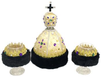 """Набор для бара """"Царская шапка"""" (штоф и два бокала)"""