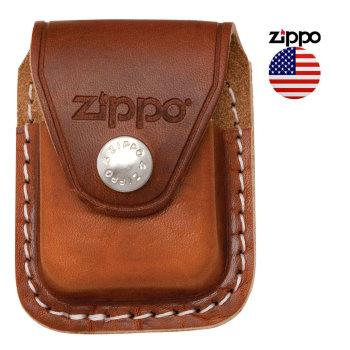 Чехол для зажигалки Zippo на ремень коричневого цвета