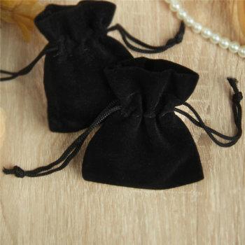Бархатный подарочный мешочек чёрного цвета (7 х 5 см)