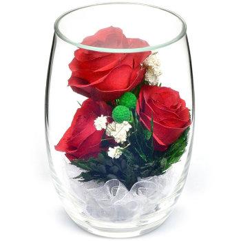 Розы в стекле RmiR (12 см)