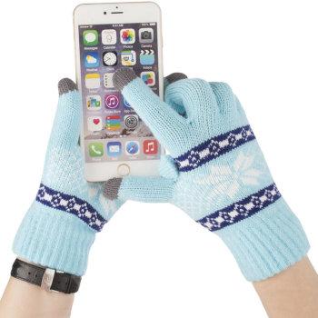 """Перчатки для сенсорного экрана """"Снежинка"""""""