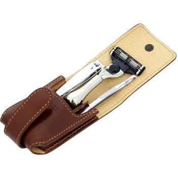 Дорожный набор для бритья S.Quire (станок, пинцет, книпсер)