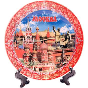 """Сувенирная тарелка """"В окрестностях Кремля"""" (15 см)"""