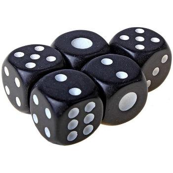 Игральные кубики чёрного цвета (поштучно)