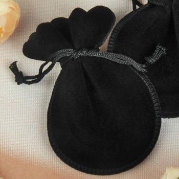 Бархатный подарочный мешочек чёрного цвета (10 х 8 см)