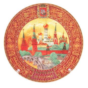 """Сувенирная тарелка """"Московская тройка"""" (15 см)"""
