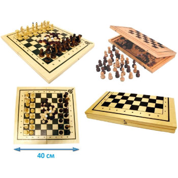 """Шахматы, нарды 2 в 1 """"Классика"""""""