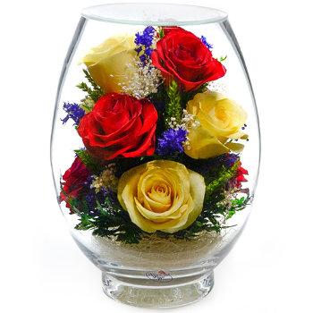 Розы в стекле VMR5c-01 (17,5 см)