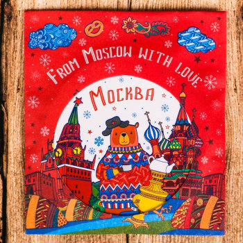 """Карманное зеркальце """"Москва"""""""
