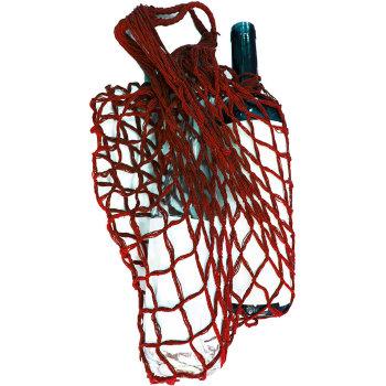 Авоська красного цвета (выдерживает до 50 килограмм)