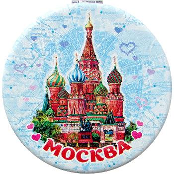 """Карманное зеркальце """"Собор на Красной площади"""""""