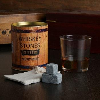 """Набор """"Настоящему мужчине"""" (бокал, три камня для виски)"""