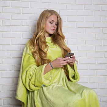 Жёлтый плед с рукавами Handy (200 х 150 см)