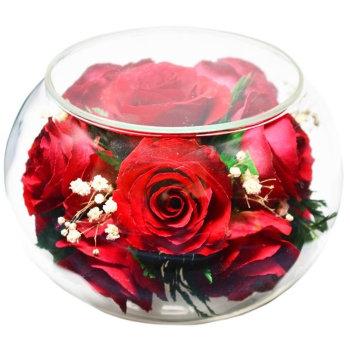 Розы в стекле CaSR (11 см)