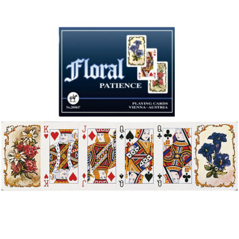 """Пасьянсные карты """"Floral"""" (Piatnik, две колоды по 55 карт)"""