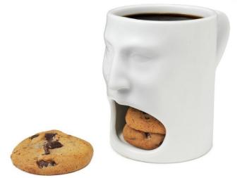 """Кружка """"Лицо"""" с отделением для печенья (150 мл)"""