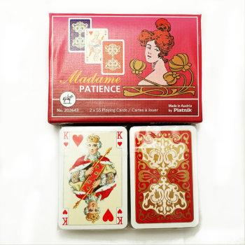 """Пасьянсные карты """"Madame"""" (Piatnik, две колоды по 55 карт)"""
