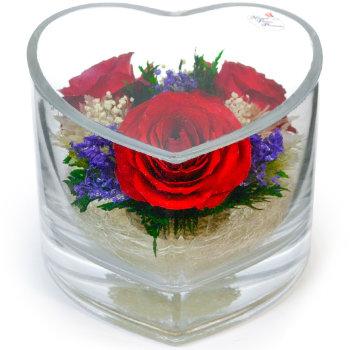 Розы в стекле HMR (12 см)