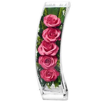 Розы в стекле SqCRp (30,5 см)