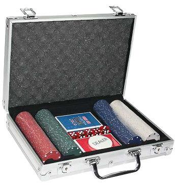Набор для покера из 200 фишек без номинала в кейсе