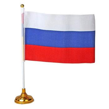 Маленький флаг России на подставке (21 х 14 см)