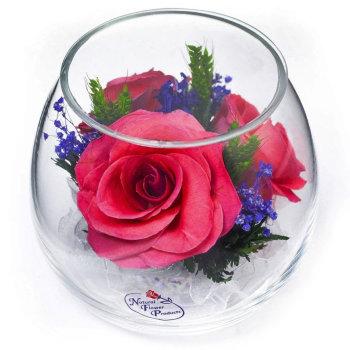 Розы в стекле BmiRp (9 см)