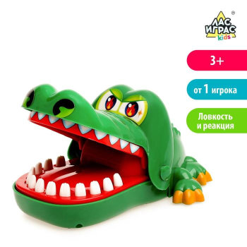 """Настольная игра """"Безумный крокодил"""" (развивает реакцию)"""