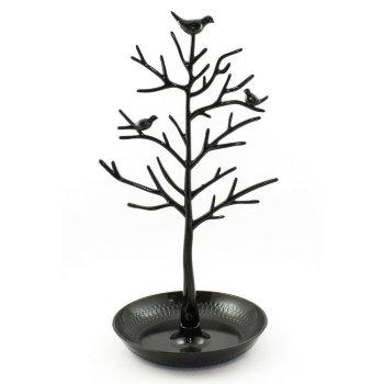 """Подставка для украшений """"Дерево с птичками"""" чёрного цвета"""