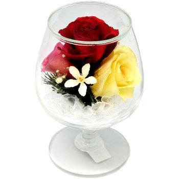 Розы в стекле GSR5c (12,5 см)