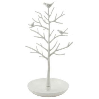 """Подставка для украшений """"Дерево с птичками"""" белого цвета"""