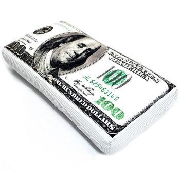 "Подушка ""Купюра 100 долларов"" (42 х 22 х 10 см)"