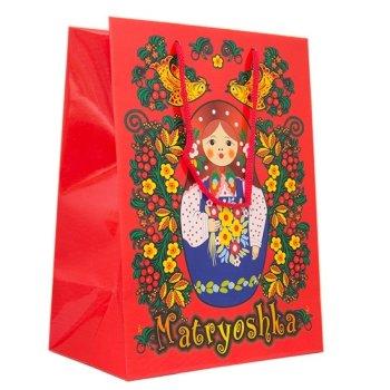 """Подарочный пакет """"Матрёшка"""" (14 х 11 х 5 см)"""