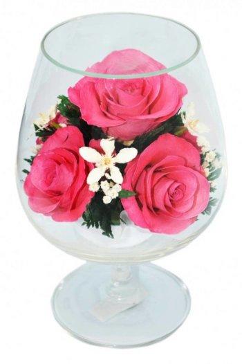 Розы в стекле GSRp (12,5 см)