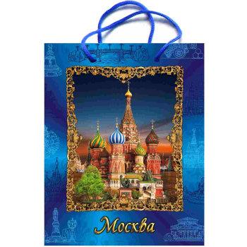 """Подарочный пакет """"Летняя Москва"""" (23 х 17 х 8 см)"""
