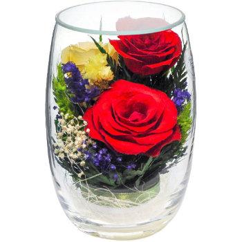 Розы в стекле RmiR5c1 (12 см)
