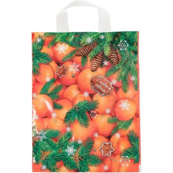 """Полиэтиленовый пакет """"Мандарины на Новый год"""" (35 х 28 см)"""