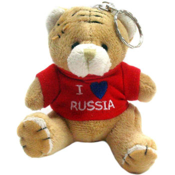 "Брелок ""I love Russia"" в виде мишки"