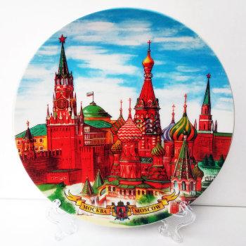 """Сувенирная тарелка """"Москва, городские виды"""" (15 см)"""
