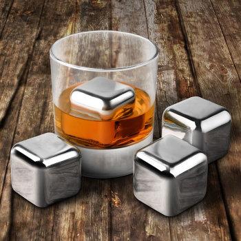 """Стальные камни для виски """"Cooling Cubes"""" (4 кубика)"""