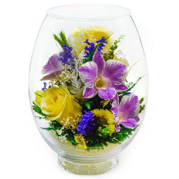 Розы и орхидеи в стекле VSM-04/VMM4 (17,5 см)