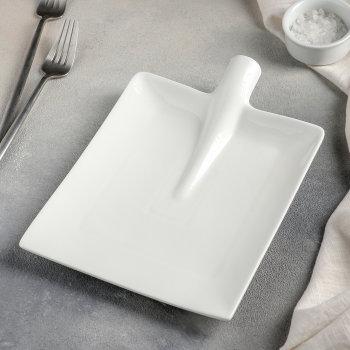 """Тарелка для подачи """"Совковая лопата"""" (24,5 х 18 х 5 см)"""