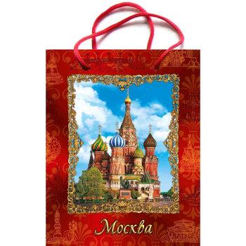 """Подарочный пакет """"Виды Красной площади"""" (31 х 26 х 10 см)"""