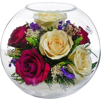 Розы в стекле BNR5c2 (18,5 см)