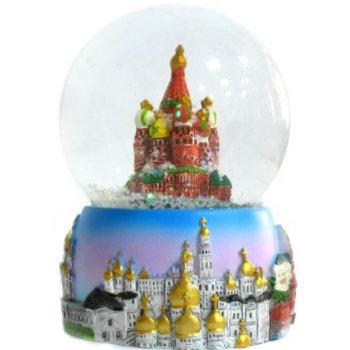 """Шар со снегом """"Москва"""" (диаметр 6,5 см)"""