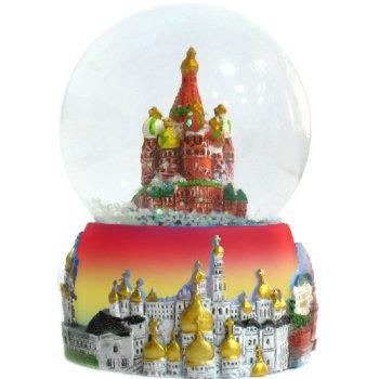 """Шар со снегом """"Москва"""" (диаметр 4,5 см)"""