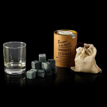 Камни для виски с бокалом (12 кубиков)